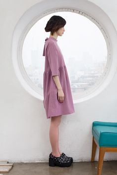 Ribbon Tie Keyhole Smock Dress Pink www.thewhitepepper.com/collections/dresses/products/ribbon-tie-keyhole-smock-dress-pink