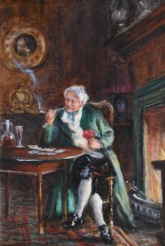 Knitting by the Fireside & Cards by the Fireside, pair by Frank Moss Bennett.jpeg (1280×1905)