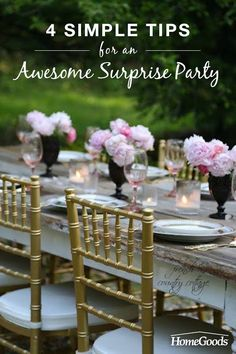 With these helpful hints you can keep yourself sane, and who knows, maybe you can also keep the surprise party...a surprise.