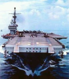 The first ship my husband was on: USS Forrestal