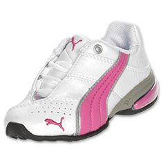 Puma toddler shoes in Finishline-This is one of the sleek and style design for the toddlers.It's lightweight makes toddlers easy to wear.One of the other feature we would always love to have is it has the leather upper features perforations so feet can breathe.This shoes goes with most of the dresses for girls..