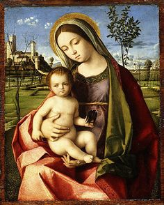 Madonna and Child, oil painting by the workshop of Giovanni Bellini, c. in the Metropolitan Museum of Art, New York City. Renaissance Artists, Italian Renaissance, Giovanni Bellini, Religion Catolica, Sainte Marie, Blessed Mother Mary, Italian Painters, Madonna And Child, Poster Prints