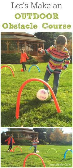 How to Make an Outdoor Obstacle Course - Inner Child Fun Outdoor Games For Preschoolers, Outside Activities, Summer Activities, Toddler Activities, Outdoor Activities, Games For Kids, Diy For Kids, Movement Activities, Summer Games