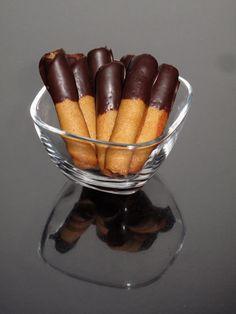 Canutillos con chocolate