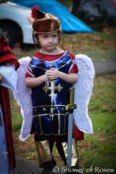 St. Michael the Archangel... great idea for saints day!
