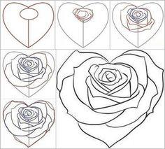 How to Draw a Rose from a Heart   iCreativeIdeas.com Follow Us on Facebook --> www.facebook.com/iCreativeIdeas