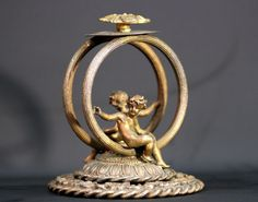 Currently at the #Catawiki auctions: Antique Brass Figurine - France - 19th century