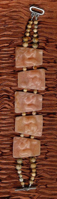 Bracelet  Peach Aventurine Picture Jasper by ChicStatements, $45.00