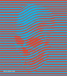 Collection of 16 Skull Optical Illusions | Mighty Optical Illusions