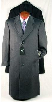 This single-breasted wool blend topcoat is andfeatures button through front,and a notch collar slim fit mens suits.