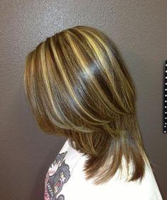 Blonde+Highlights+with+Dark+Lowlights   Golden blonde highlights with dark brown lowlights and haircut   Hair