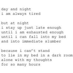 an interesting type of insomnia