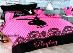 Pink Playboy bed set