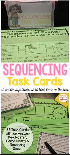 32 Sequence of Events task cards, game board, recording sheet & answer key.