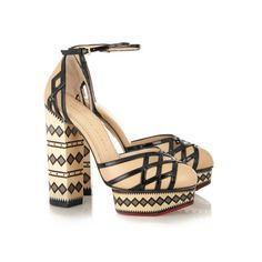 CHARLOTTE OLYMPIA Ay Caramba! leather pumps - Aztec print is all the rage in the fashion world. Make sure you incorporate this popular pattern into your wardrobe by adding the Charlotte Olympia Ay Caramba! Leather Pumps to shoe collection. This is a pair of shoes that will keep you on trend and in style. - Found at myWebRoom.com