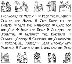 spiritual works of mercy worksheet - Google Search | Year of Mercy ...