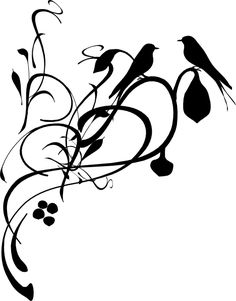 A Silhouette Of A Bird Singing - ClipArt Best