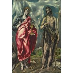 "East Urban Home 'St. John the Evangelist' by El Greco Painting Print on Wrapped Canvas Size: 40"" H x 26"" W x 0.75"" D"