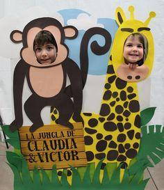 Cumpleaños infantil, organización de cumpleaños y fiestas temáticas. Cumpleaños de la jungla. Candy bar temática. Organización eventos. Cumpleaños diferente Jungle Theme Parties, Jungle Theme Birthday, Wild One Birthday Party, Jungle Party, Safari Party, Safari Theme, First Birthday Parties, Giraffe Birthday, Animal Birthday
