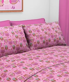 Look at this Owl Sheet Set on #zulily today!