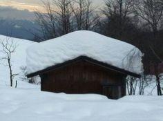 Snow on mottarone (italy).
