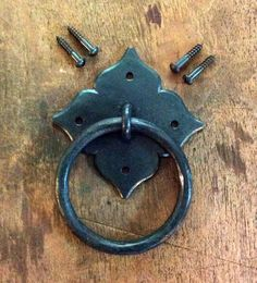Stylish RING PULL 3 1/2 inch Blacksmith Hand by FireandSteelForge, $79.95
