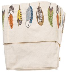 so enchanted with feathers at the moment Coral and Tusk - embroidered feather bucket