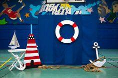 Nautical backdrop photobooth stage
