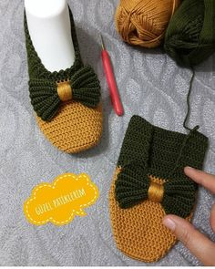 Best 12 my beautiful booties ( Crochet Slipper Boots, Crochet Sandals, Knitted Booties, Knitted Slippers, Crochet Shoes, Knit Crochet, Baby Knitting Patterns, Crochet Patterns, Crochet Slipper Pattern