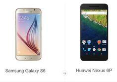 Phone Comparisons: Samsung Galaxy S6 vs Huawei Nexus 6P