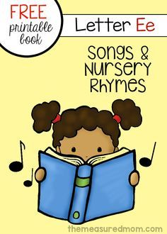 Print this free mini-book for letter E songs and rhymes!