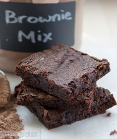 The Best Homemade Brownie Mix - keep in pantry and make whenever you want- 20 recipes to use with