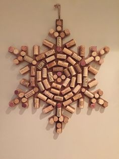 Upcycled Wine Cork Snow Flake More