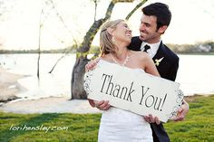 picture of the bride&groom for everyone (on thank-u notes) @Cici Absolutely White