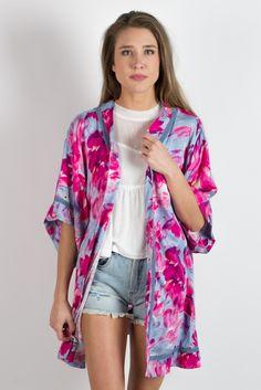 Some Days Lovin Pintura Floral Kimono