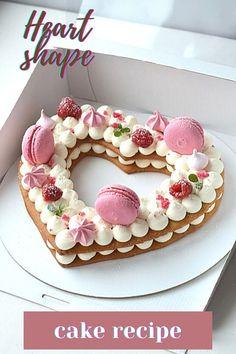 Beautiful Cakes, Amazing Cakes, Cake Cookies, Cupcake Cakes, Sweet Desserts, Dessert Recipes, Heart Shaped Cakes, Heart Cakes, Cake Decorating With Fondant