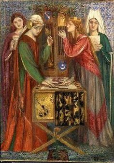 The Blue Closet  Dante Gabriel Rossetti  1856-1857  Medium: watercolour  Dimensions: 13 1/2 x 9 3/4