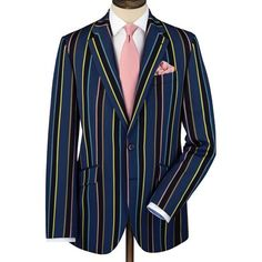 Blue stripe classic fit boating blazer | Men's sport coats & blazers from Charles Tyrwhitt | CTShirts.com