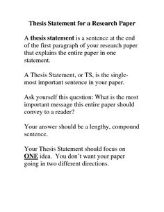 thesis statement career plus how to write a research paper thesis statement
