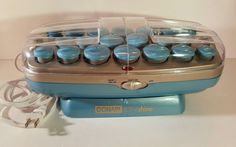 Conair Hot Rollers ION Shine CHV261 Blue with clips USA SEller C904 #Conair