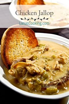 Chicken Jallop is a very old, traditional south Georgia recipe and is essentially a chicken stew served over toasted hamburger buns. Southern Dishes, Southern Recipes, Southern Food, Chicken Mull, Chicken Soup, Cooking Recipes, Healthy Recipes, Soups And Stews, Soul Food