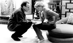 """Michael Mann and Ashley Judd, on the set of """"Heat"""""""