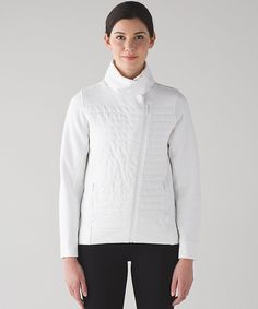 Fleece Be True Jacket in white - This naturally breathable, relaxed-fit jacket was designed to be your post-practice favourite—just throw on and go. COTTON FLEECE  Naturally breathable Cotton Fleece fabric feels thick, soft and comfortable long after you've cooled down  soft and comfortable naturally breathable heat retention