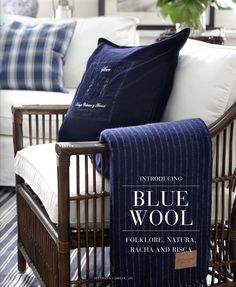 Artwood blue wood indigo style blue and white with wood tones living room family room
