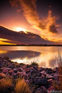 Sunrise Over Lake Ladora, Rocky Mountain Arsenal National Wildlife Refuge, Colorado | kkart via DeviantART