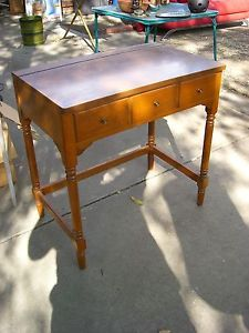 Ethan Allen Heirloom Vanity Desk Colonial Early American Furniture ...