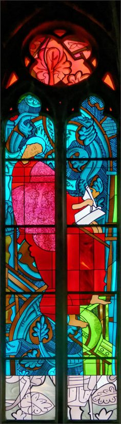 Matthew: Jean-Michel Alberola - Dominique Duchemin (master glass artist) - Saint-Cyr Cathedral and St. Julitta of Nevers, France