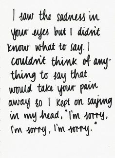 i'm sorry quotes for her - Google Search