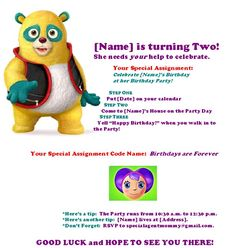 {Celebrate} Birthdays Are Forever | Free Special Agent Oso Birthday Party Invitation Printable