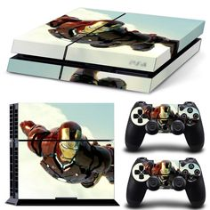 *NEW* Playstation 4 Skin! Featured Character : Iron Man Includes : - (2) Controller Skins - (1) Console Skin